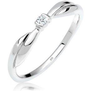 Diamore Diamantring Schleife Verlobung Diamant 0 03 ct 925 Silber