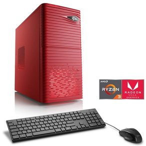 Csl Gaming PC AMD Ryzen 3 2200G Vega 8 Grafik GB DDR4 Sprint T8372 Windows 10 Home