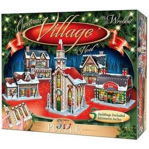 Wrebbit 3D Puzzle 116 Teile Weihnachtsdorf 5 Gebäude