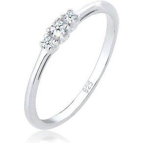 Elli Diamantring Verlobungsring Diamant 0 07 ct Zart 925 Silber