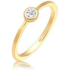 Diamore Diamantring Verlobung Solitär Diamant 0 06 ct 585 Gelbgold