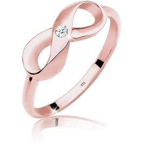 Diamore Diamantring Infinity Unendlich Diamant 0 03 ct 925 Silber