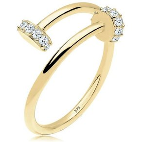 Elli Diamantring Nagel Statement Diamant 0 14 ct 375 Gelbgold