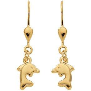 Adelia s Paar Ohrhänger Gold 8 k 333 Ohrringe Ohrhänger Delphin 333 Gelbgold
