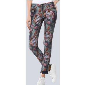 Alba Moda Jeans mit romantischem Blumenprint
