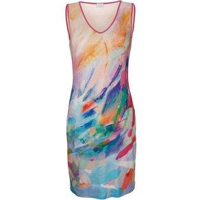 Alba Moda Kleid mit Aquarelldruck