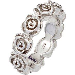 Jobo Silberring Rosen 925 Silber