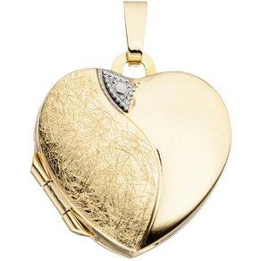 Jobo Medallionanhänger Medaillon Herz 333 Gold