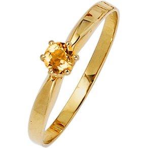 Jobo Goldring 585 Gold mit Citrin