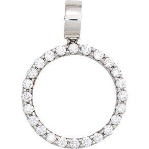 Jobo Runder Anhänger rund 585 Weissgold mit 24 Diamanten