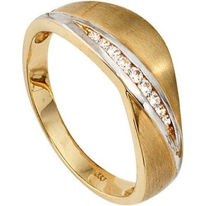 Jobo Goldring 333 Gold bicolor mit Zirkonia