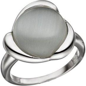 Jobo Silberring 925 Silber mit synthetischem Katzenauge
