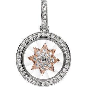 Jobo Sternanhänger I LOVE YOU 925 Silber bicolor vergoldet mit Zirkonia
