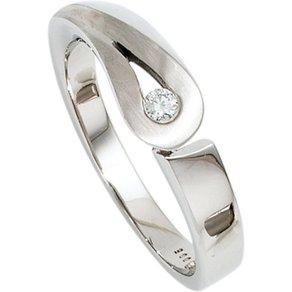 Jobo Diamantring 925 Silber mit Diamant