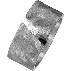 Jobo Partnerring breit Titan mit Diamant 0 05 ct