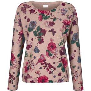 Alba Moda Pullover mit fantasievollem Blumenprint