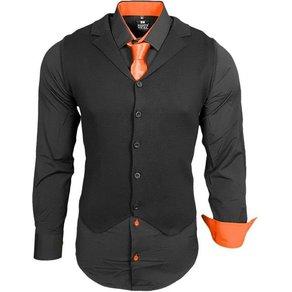 Rusty Neal Hemdenset mit Weste und Krawatte