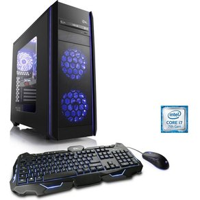 Csl Gaming PC Intel Core i7-7700K GTX 1070 16 GB DDR4 SSD Speed T9664 Windows 10 Home