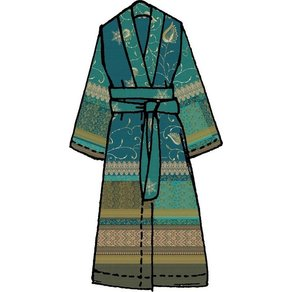Bassetti Damenbademantel Bernina Bassetti in Kimonoform