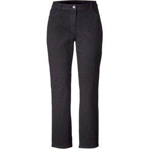 Sara Lindholm by Happy Size Slim Fit Jeans mit Strasssteinen