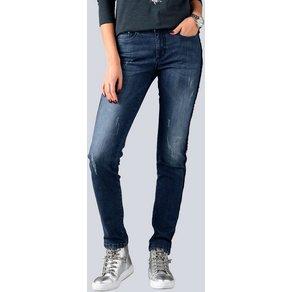 Alba Moda Jeans mit Paillettenband an der Aussennaht