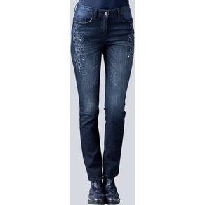 Alba Moda Jeans mit aufwendigem Strassstein-Besatz
