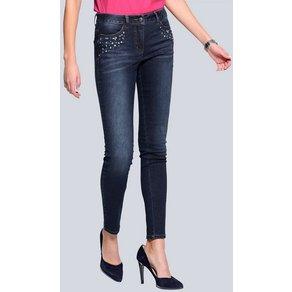 Alba Moda Jeans mit Strass-Verzierungen