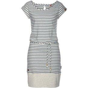 Ragwear Shirtkleid SOHO STRIPES mit maritimen Streifen und Bindeband