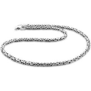 Kuzzoi Silberkette Herren Glieder Königskette Oxidiert 925 Silber