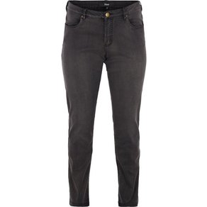 Zizzi Regular-slim-fit-Jeans Emily Jeans Damen Grosse Grössen Hose Slim Fit Curvy Hip Stretch Jeanshose