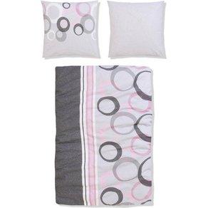 My Home Bettwäsche Anja my home mit feinem Muster und grossen Kreisen