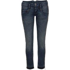 Herrlicher Ankle-Jeans PITCH SLIM CROPPED Low Waist mit Galon-Streifen