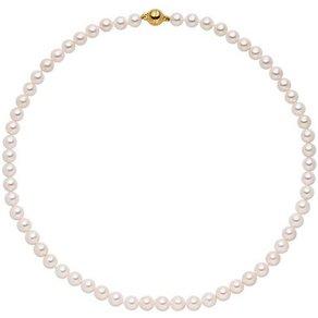 Jobo Perlenkette Akoya-Zuchtperlen mit 925 Silber vergoldet