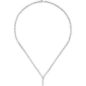 Jobo Collier 925 Silber mit Zirkonia