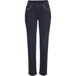 MAC Straight-Jeans Melanie Glam Chain Perlenband-Besatz an den forderen Taschen