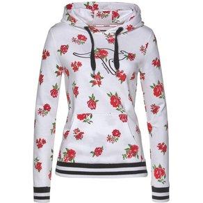 Kangaroos Kapuzensweatshirt mit floralem Alloverdruck