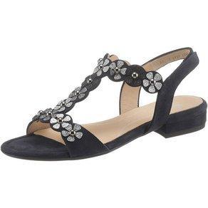Ara VEGAS Sandalette mit Blüten im Metallic-Look