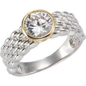 Vivance Ring 925- Sterling Silber bicolor Zirkonia