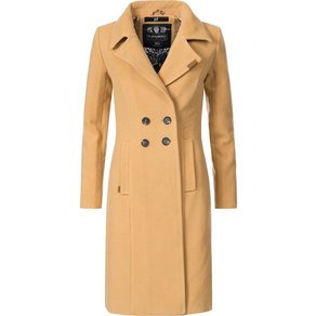 Navahoo Wintermantel Wooly edler Damen Trenchcoat in Wollmantel-Optik