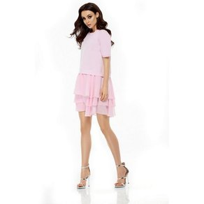 lemoniade Kleid mit kurzen Ärmeln