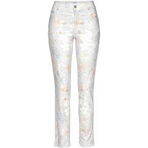 ANGELS Ankle-Jeans Cici bedruckt Eleganter Druck auf knöchellanger Form