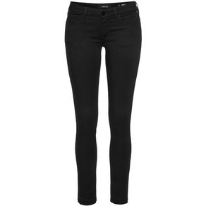 Replay Skinny-fit-Jeans LUZ mit Used-Kante am Saum