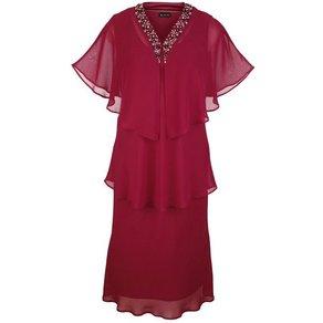 m collection Kleid aus Chiffon in 2-in-1 Optik