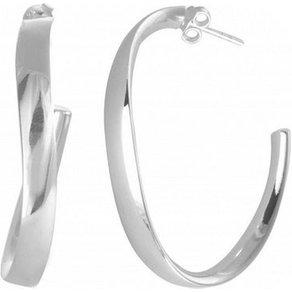 Adelia s Paar Creolen 925 Sterling Silber Ohrringe Oval 40 mm poliert 925 poliert