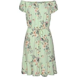 AJC Off-Shoulder-Kleid mit Carmenausschnitt Volantsaum