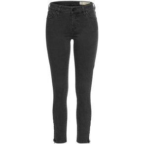 Diesel Skinny-fit-Jeans SLANDY ZIP mit Reissverschlussdetails an den Beinabschlüssen