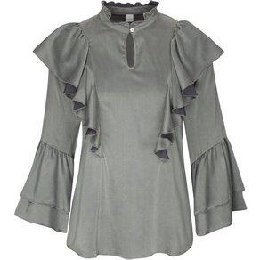 seidensticker Klassische Bluse Schwarze Rose 3 4 Arm Kragen Uni