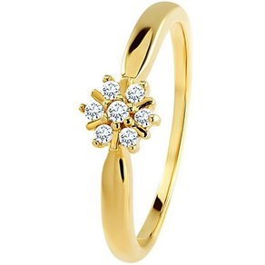 Diamond Line Gold-Ring mit Diamanten