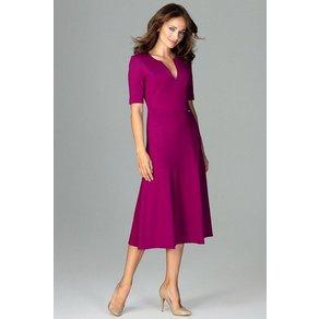 LENITIF Abendkleid mit femininem V-Ausschnitt