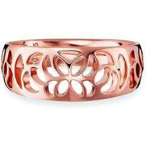 CAÏ Ring 925 Sterling Silber rotvergoldet Ornamente